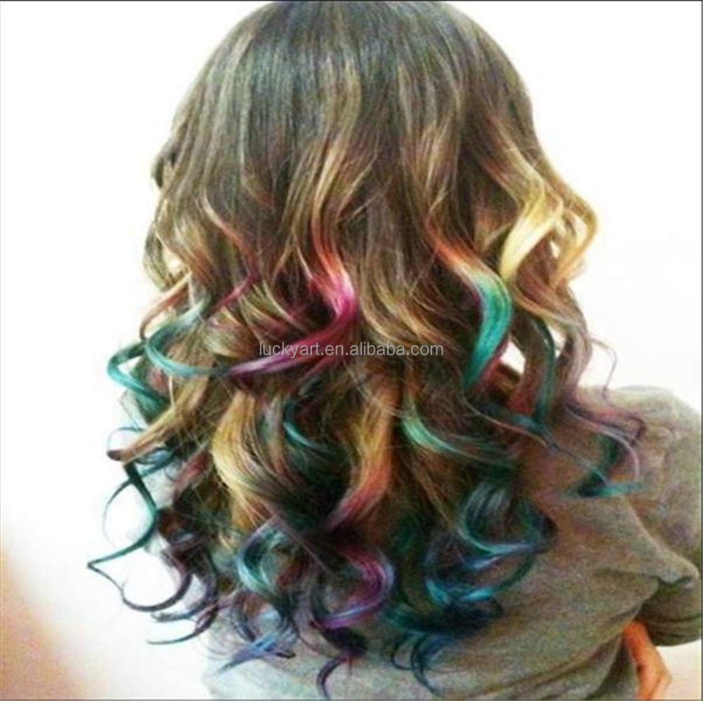 Temporary Colorful Henna Hair Dye Msds Certificate Round Hair Chalk
