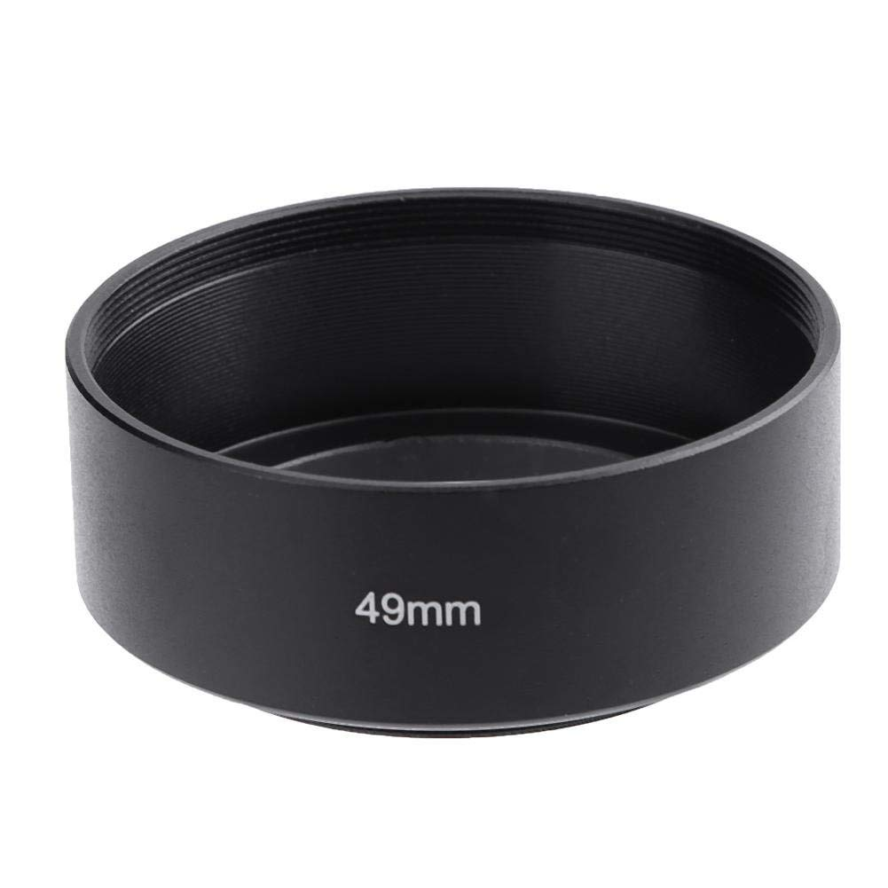 LiChiLan Lens Hood, Universal Standard Long Focus Lens Hood Screw-in Mount for Camera(49mm)