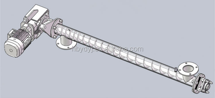 Wear resistance double shafts screw conveyor