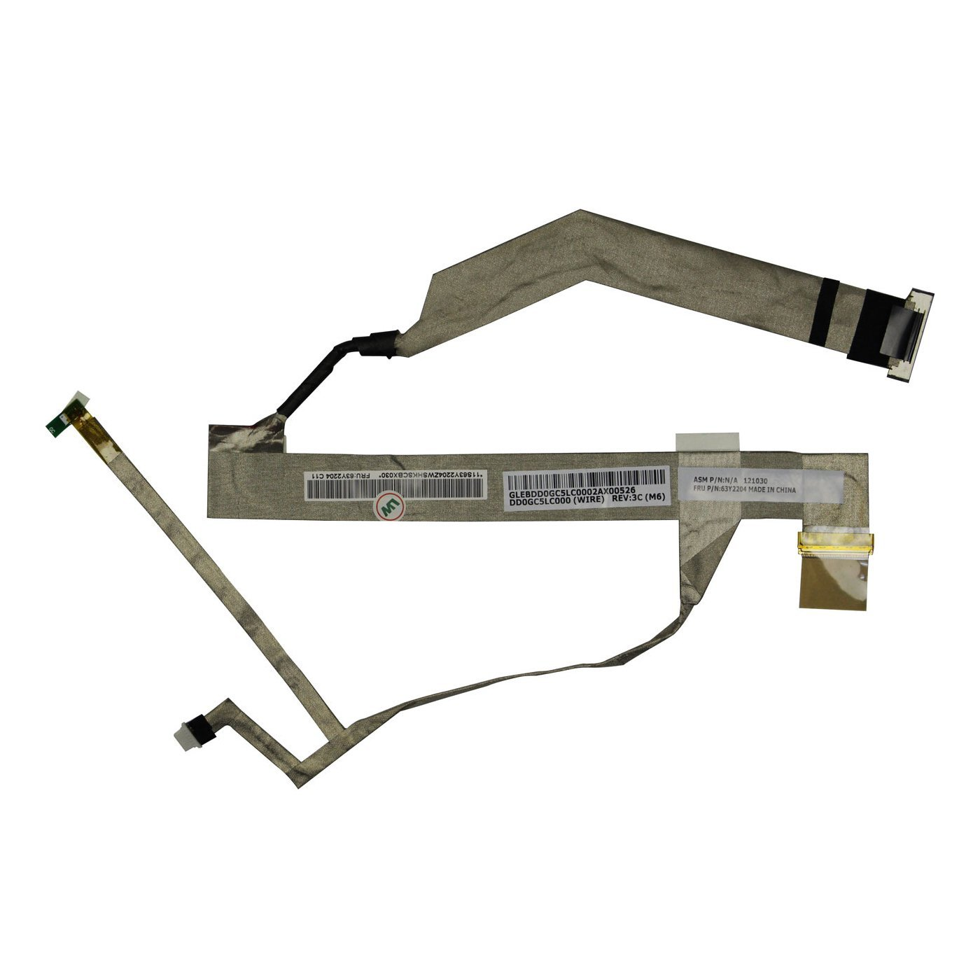 Replacement LCD LED Screen Cable for Lenovo IBM Thinkpad Edge 14 E40 / Edge 15 E50 Laptop 63Y2204 DD0GC5LC000