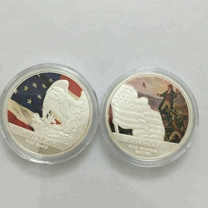 Challenge Silver Replica the United Sates of America Freedom Strength Flag Eagle commemorate coin