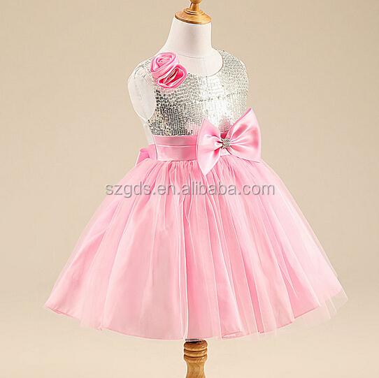 Shinny Rot/rosa Mädchen Party-kleid Kinder Kleider Entwirft Mädchen ...
