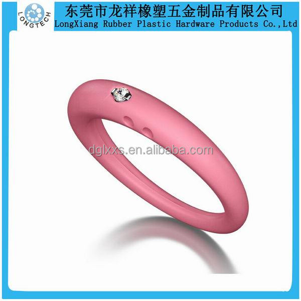 Custom Embossed Silicone Rubber Wedding Rings