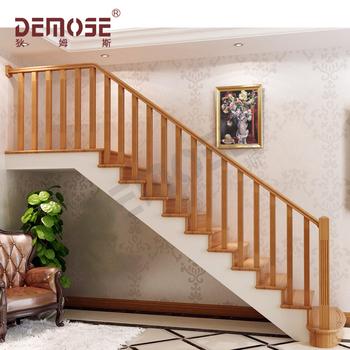 Modern Indoor Wooden Stair Railings
