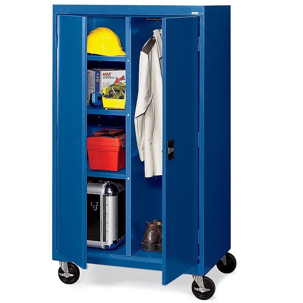 Sandusky Lee TACR362460-06 Transport Series Mobile Combination Storage Cabinet, Blue