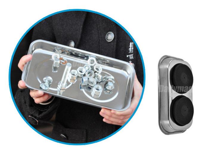 4 шт магнитный мини деталей чаша держатели набор гараж жилищного строительства