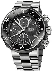 8313845ed26 Get Quotations · Oris Men s 674 7630 7154MB Prodiver Chronograph Set Watch