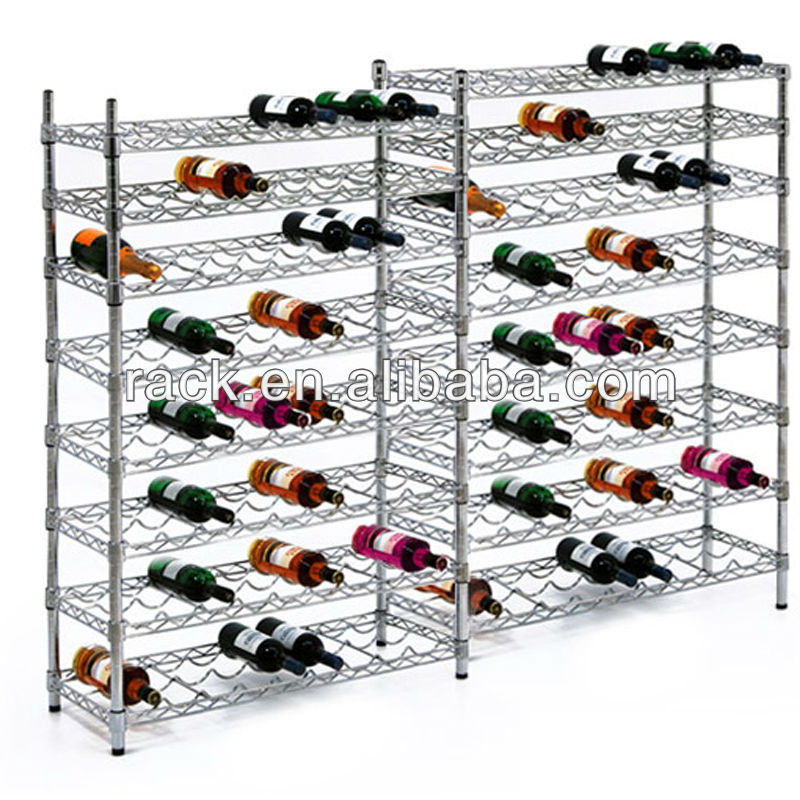 WELLAND NSF Steel Chrome Wine Shelf Factory,DIY Style