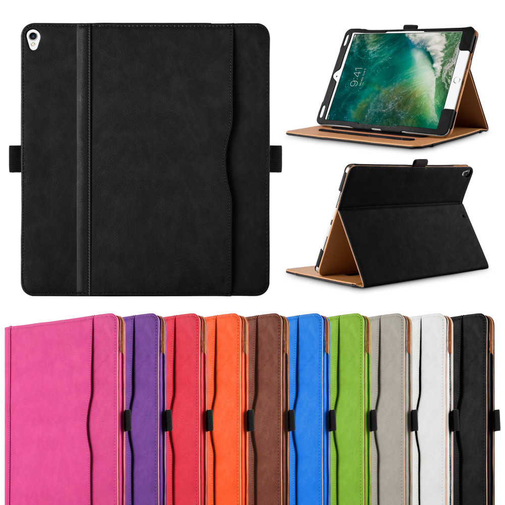 Tan Retro Leather Case For <strong>iPad</strong> Pro 10.5 Multi Function With Auto Sleep and Wake