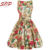 Women Authentic Vintage Style Antique Rose Tea Dress