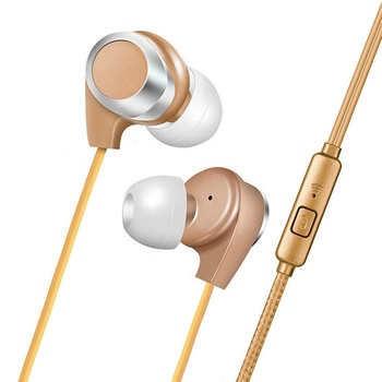 2019 high quality braided high-elastic cable  stereo bass in ear earphone with mic for mobile