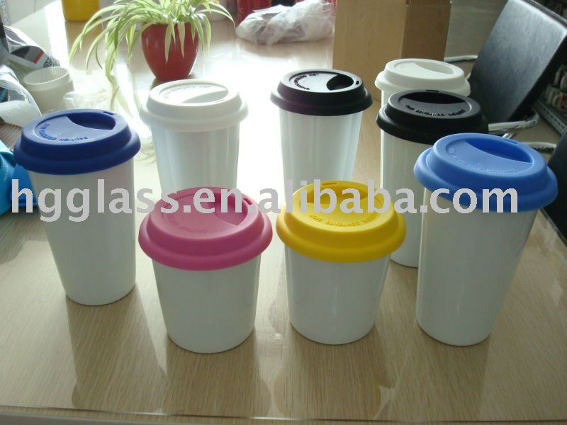 200ml Thermal porcelain cup with silicone lid