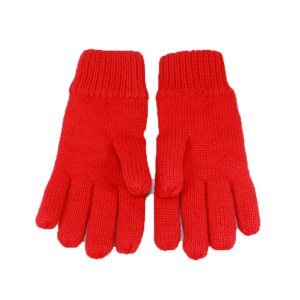 HZS-13226005 wholesale fashion knitted cheap wool winter thick custom acrylic cute red mitten