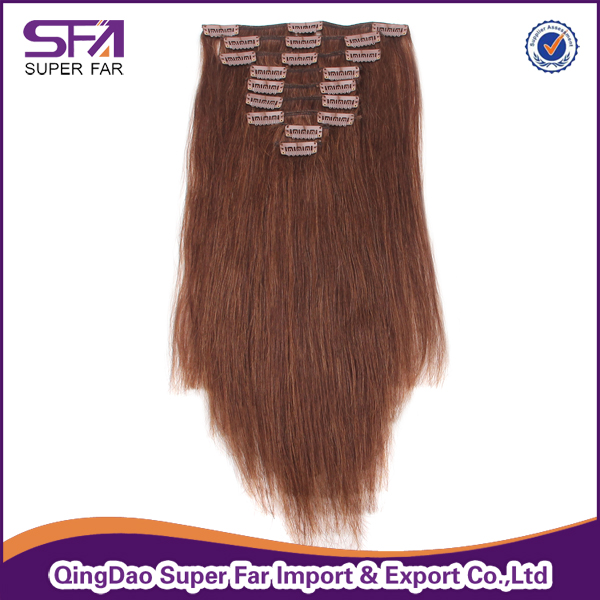 100% Human Hair.Natural Raw Indian Hair ,Virgin Hair Extension Clip