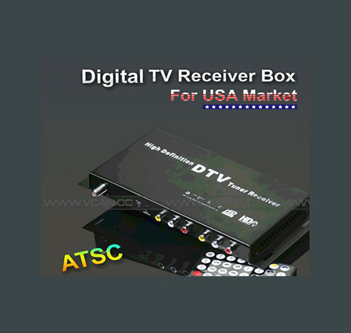 Windows IPTV Set Top Box ATSC-1208-51 coche receptor de TV digital ATSC para ee.uu.