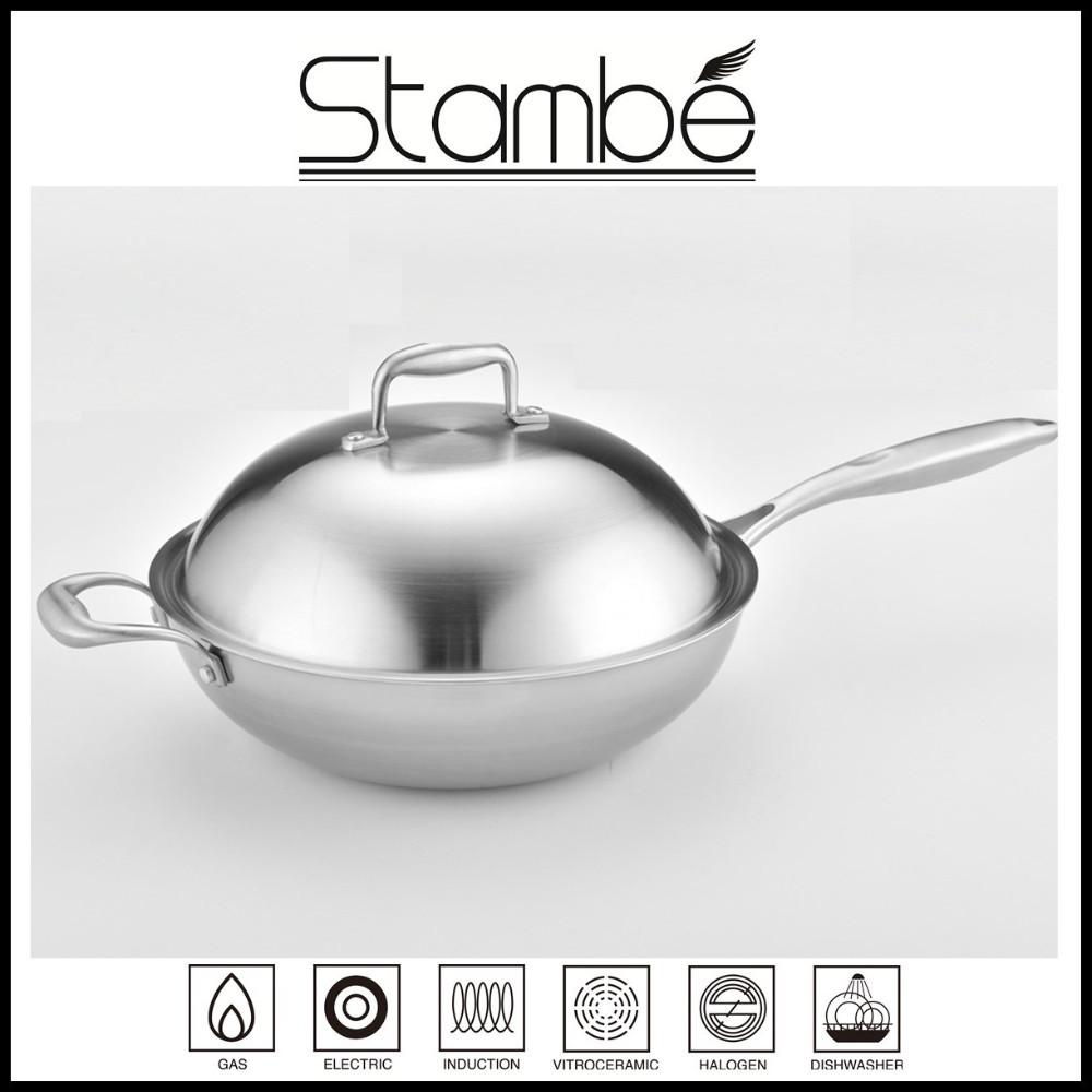 korea design stambe all clad stainless steel nonstick frying pan