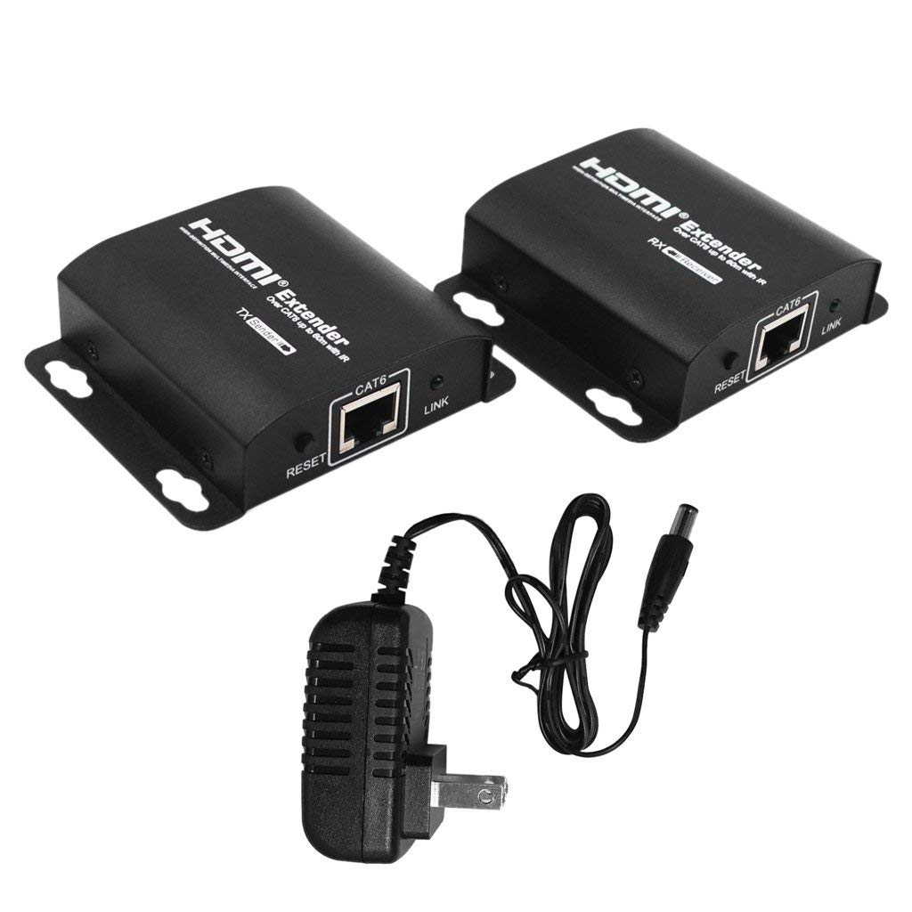 GBSELL HDMI Over RJ45 CAT5e CAT6 LAN Ethernet Balun Extender Repeater Up to 100ft 1080P