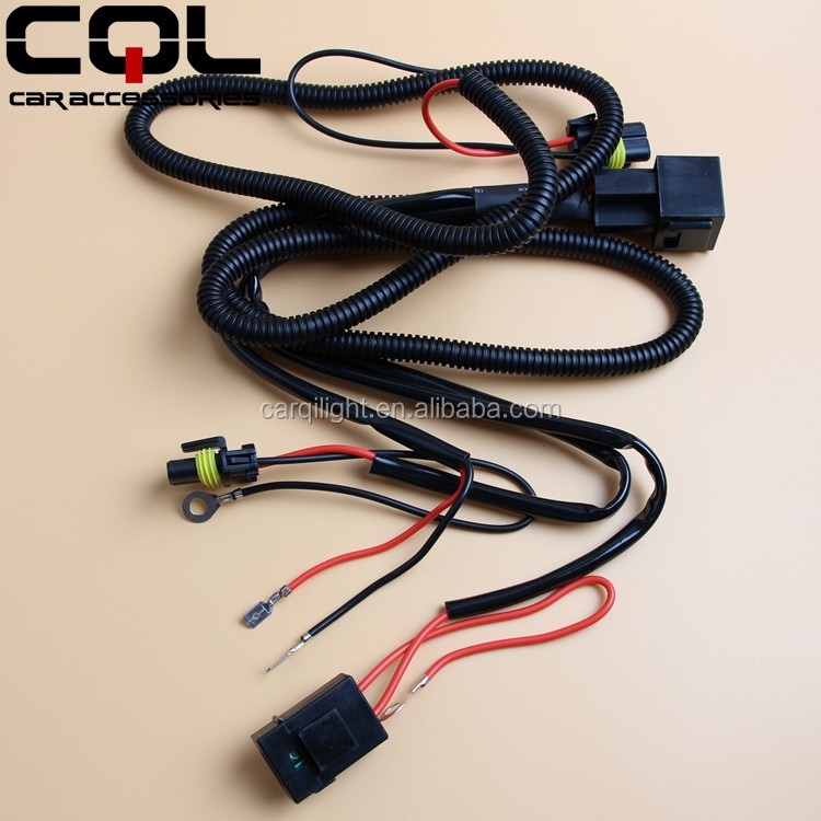 Cql Hid Bulb H1 Harness Wires,Hid Relay Wiring Harness H1 H7 H11 Bulb,Fog H Wire Harness on