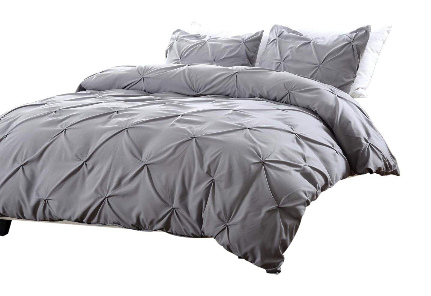 Etonnant Get Quotations · Web Linens Inc Oversized For Pillow Top 3pc Pinch Pleat  Design Gray Duvet Cover Set Style