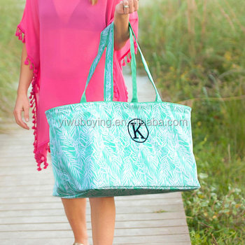 beachy keen collection monogrammed oversized beach tote utility bags