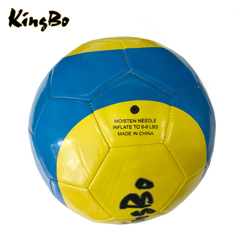 0e9cbd1cbd China Factory Customize Soccer Ball Blue And Yellow Wholesale Football For  Children - Buy Football For Children