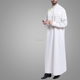 New Design Arabic Dress Muslim Abaya For Men For Sale White Thobe