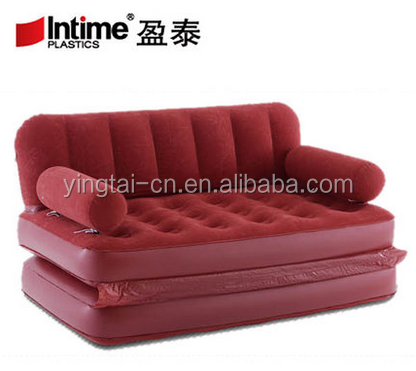 Home Furniture Multifunctional Portable Air Inflatable Sofa Bed Outddor Furniture Home Bedroom Garden Sofa For 2 Person With Air Pump Yt-142 Spare No Cost At Any Cost Beds