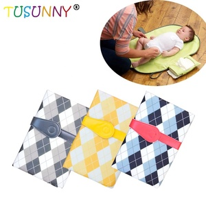 Portable baby waterproof folding storage pilch travel multi-function baby diaper pad changing mat baby