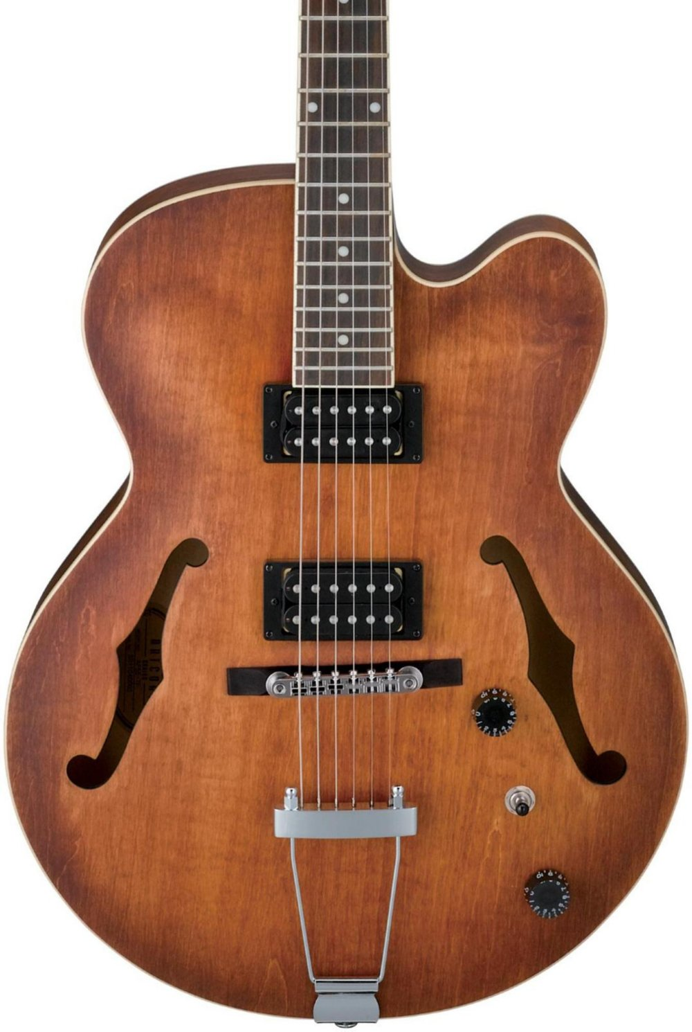 Get Quotations · Ibanez Artcore AF55 Hollow-Body Electric Guitar Tobacco  Flat