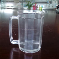 BPA Free plastic mini beer mug shot glass with handle from China