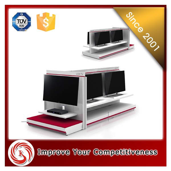 2016 KSL new arrival shopping mall modern LCD TV cabinet with showcase