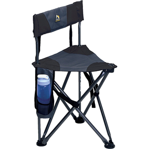 Outdoor Quick-E-Seat Folding Tripod Field Chair with Backrest