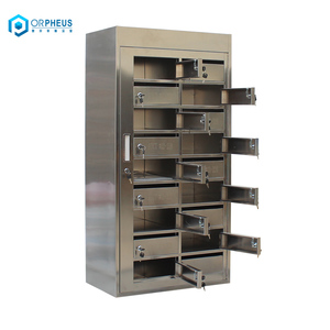 Custom Style Control Center 18 Door Stainless Steel Letter Box Mailbox