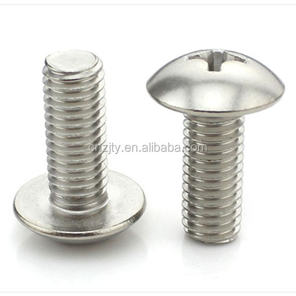 Stainless steel Phillips Truss head machine screws and bolts