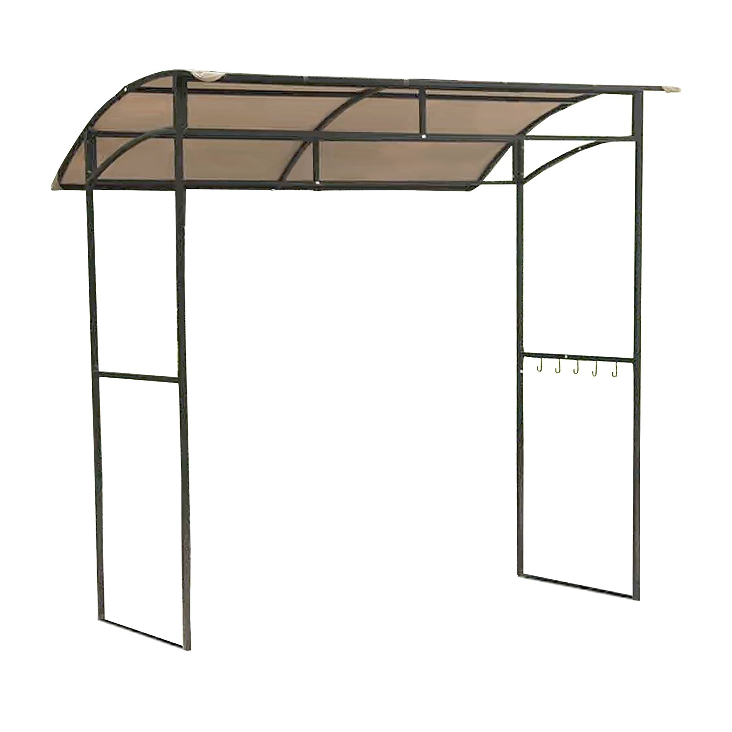 OPEN BOX - Replacement Canopy Top Cover for the Mainstays Curved Grill Shelter Gazebo - RipLock 350