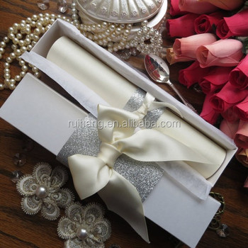 Scroll Fairy Tale Handmade Customiazed Wedding Invitation Bo
