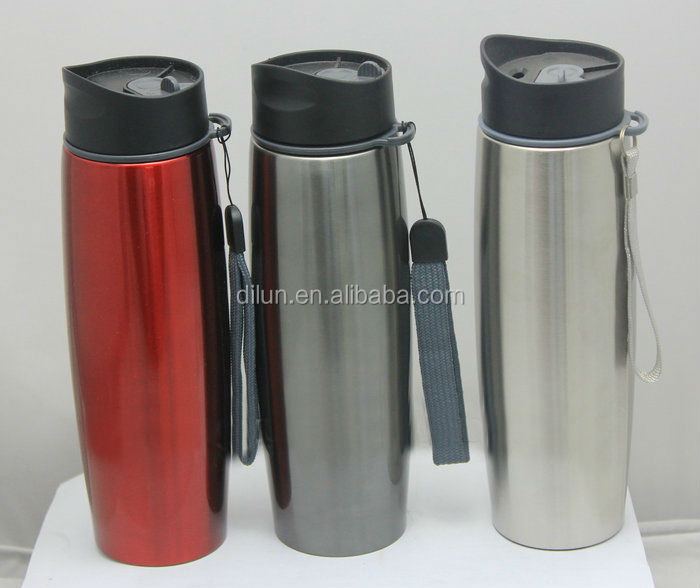 Yongkang Double Wall Stainless Steel Vacuum Flask Bottle With Strap