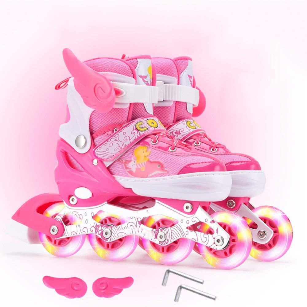 Get Quotations · DSFGHE Roller Skate Inline Skates Children s Men And Women  Skates Roller Skates Straight Row Flash Wheel 6107fef5b4