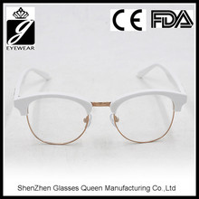 2016 newest design fashion style acetate frame temple optical frames with CE Certificate
