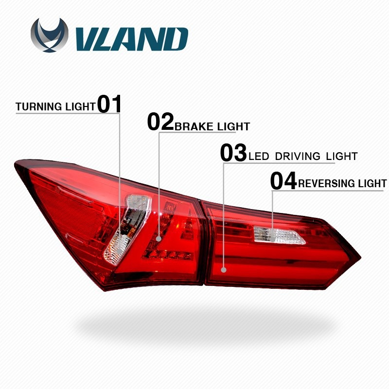 Vland Factory wholesale prices corolla led Taillamp fits to <strong>car</strong> 2014 - up