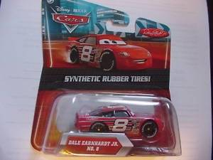 Disney / Pixar CARS Movie Exclusive 1:55 Scale Diecast Car with Synthetic Rubber Tires Dale Earnhardt Jr Dale Earnhardt Incorporated DEI Logo