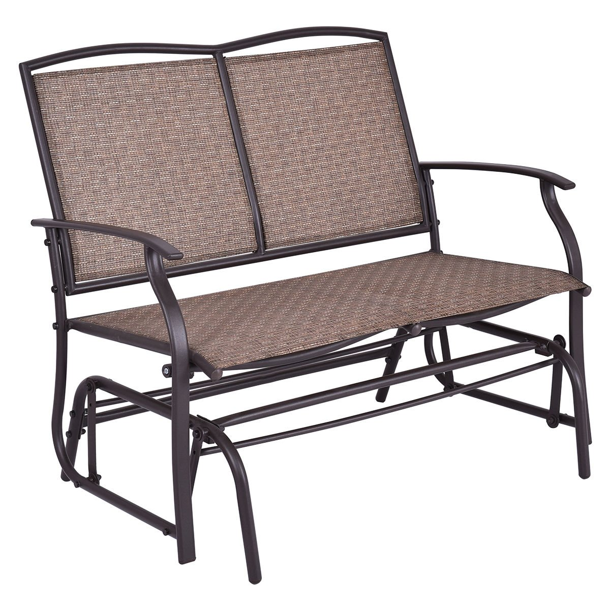mainstays walmart ip creek outdoor sling patio glider wesley com bench seat