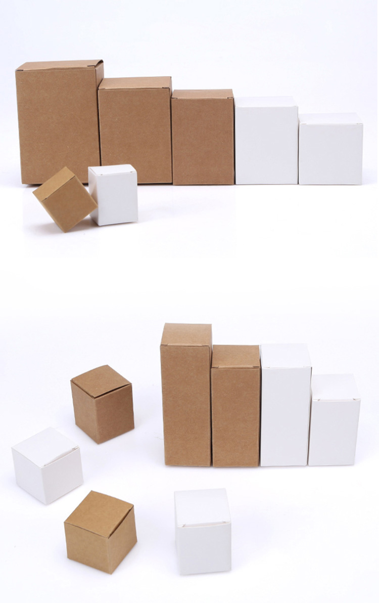 Hot sale oem small cardboard Recycled folding white corrugated packing paper box