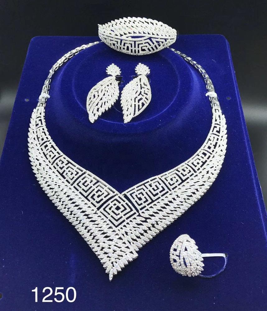 1250 xuping gioielli indiani di modo pesante americana del diamante set di gioielli