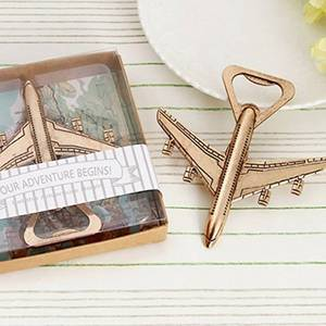 Air Plane Travel Beer Bottle Opener Wedding Birthday Gift Box Party Favors