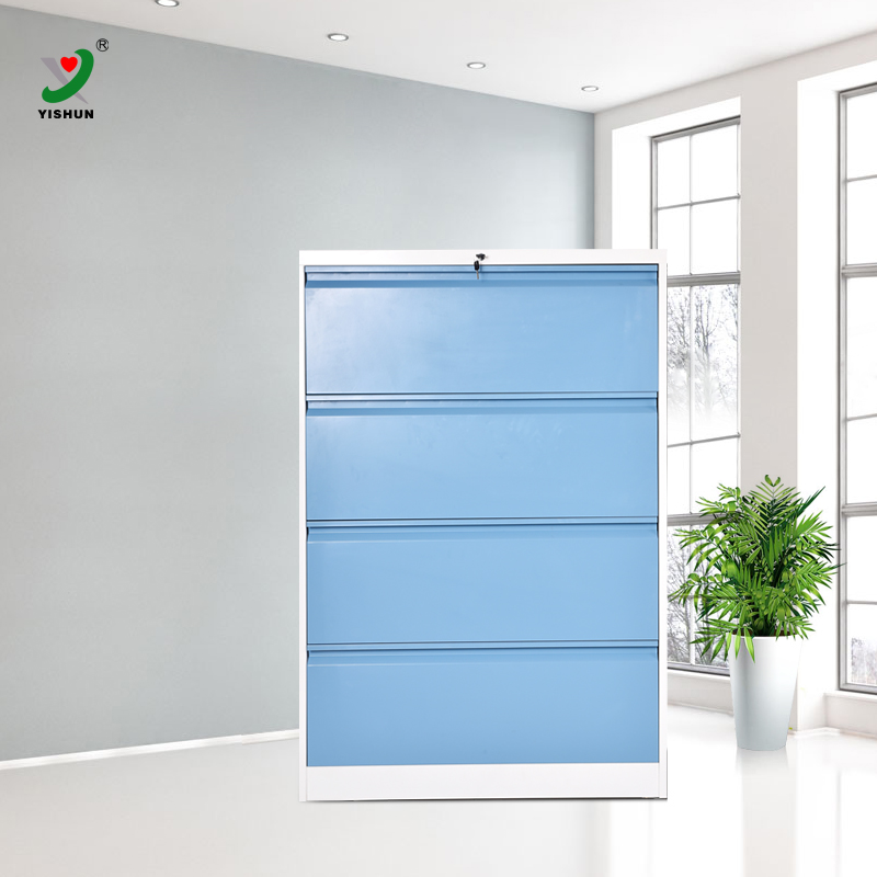 Factory direct sale metal lateral custom steel godrej 4 drawers filing cabinets