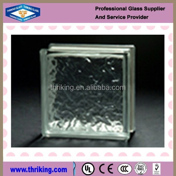 Thriking glass 190x190x80mm wall decoration clear ice shadow glass block