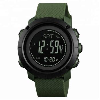 12fba469b156 Azul del reloj skmei reloj brújula Deporte Militar altímetro muñeca relojes  para hombres cronógrafo