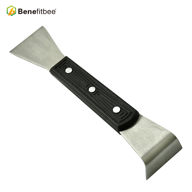 New design! Stainless steel hive tool with wooden handle