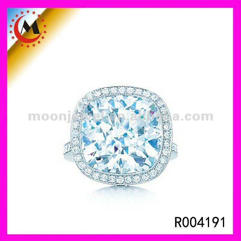 Rings Aquamarine Man Made Gemstone Rings Jewellery